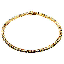 Buy Jou Jou Gold-Plated Sterling Silver Cubic Zirconia Tennis Bracelet Online at johnlewis.com