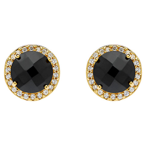 Buy Jou Jou Sterling Silver Round Cubic Zirconia Stud Earrings Online at johnlewis.com
