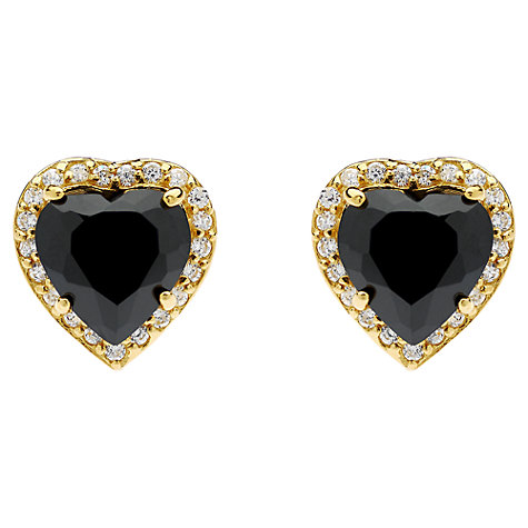 Buy Jou Jou Sterling Silver Cubic Zirconia Heart Stud Earrings Online at johnlewis.com