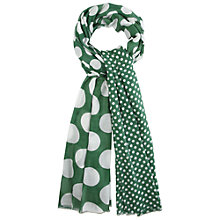 Buy White Stuff Dot Scale Scarf, Big Apple Green Online at johnlewis.com