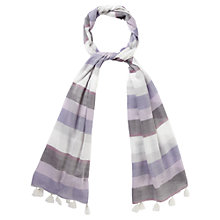 Buy Viyella Stripe Scarf, Blackberry Online at johnlewis.com
