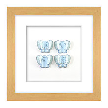 Buy Daisy Maison Blue Elephant 3D Laser-cut Print, 26 x 26cm Online at johnlewis.com