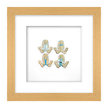 Buy Daisy Maison Blue Bunnies 3D Laser-cut Print, 26 x 26cm Online at johnlewis.com