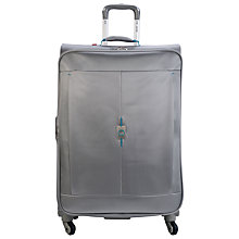 Buy Delsey Passage 4-Wheel Expandable Large Suitcase, Silver Online at johnlewis.com