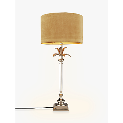 India Jane Palm Leaf Stick Lamp Base, Nickel