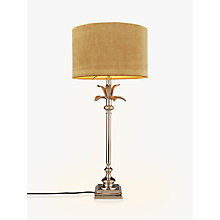Buy India Jane Palm Leaf Stick Lamp Base, Nickel Online at johnlewis.com