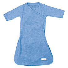 Buy Cocooi Merino Wool Baby Gown, 0-3 Months, Banbury Blue Online at johnlewis.com