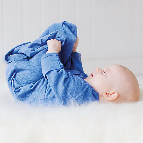 Buy Merino Kids Baby Gown, 0-3 Months, Banbury Blue Online at johnlewis.com