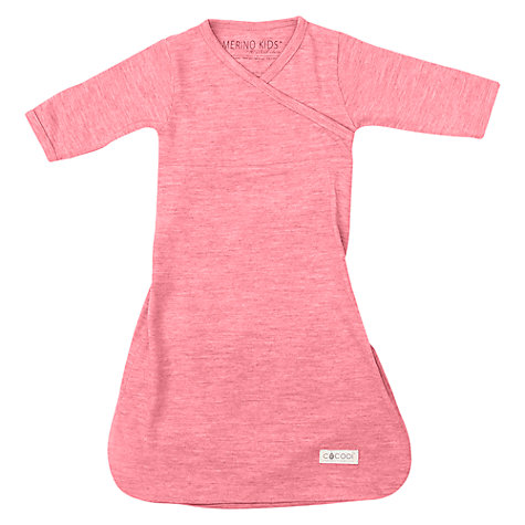 Buy Cocooi Merino Wool Baby Gown, 0-3 Months, Raspberry Online at johnlewis.com