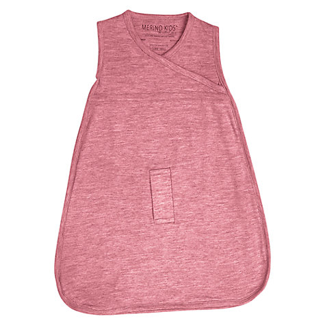 Buy Merino Kids Baby Sleeping Bag, 0-3 Months, Raspberry Online at johnlewis.com