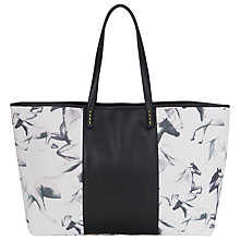 Buy French Connection Printed Leather Shopper, Black / White Online at johnlewis.com