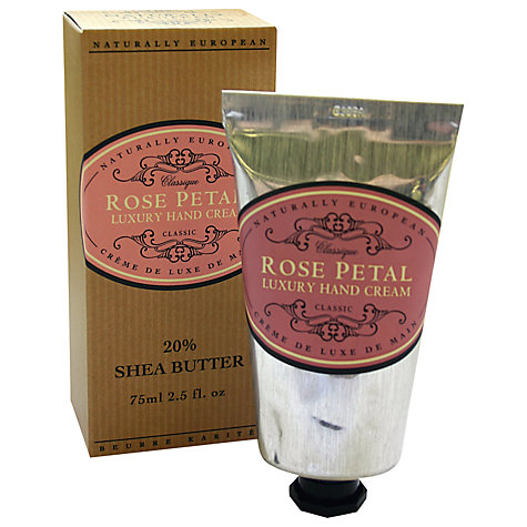 Buy Naturally European Rose Petal Luxury Hand Cream, 75ml Online at johnlewis.com