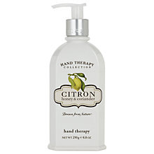 Buy Crabtree & Evelyn Citron Hand Therapy Cream, 250ml Online at johnlewis.com