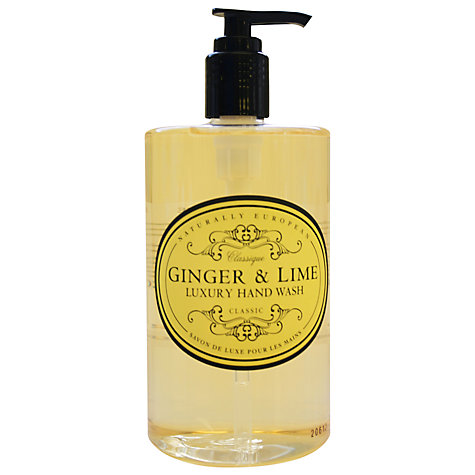 Buy Naturally European Ginger & Lime Luxury Hand Wash, 500ml Online at johnlewis.com