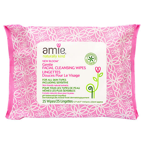 Buy Amie New  Bloom Gentle Cleanse Face Wipe, Pack of 25 Online at johnlewis.com