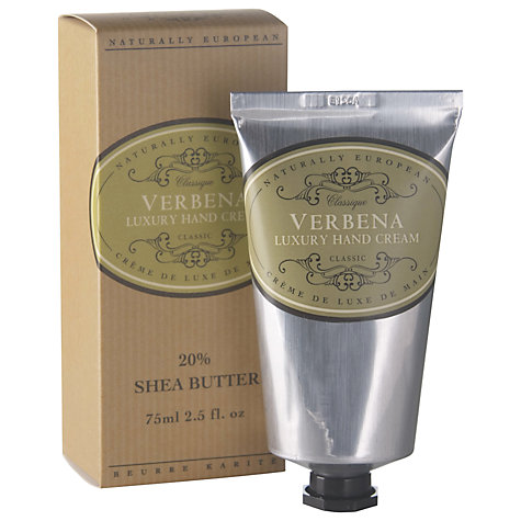 Buy Naturally European Verbena Luxury Hand and Nail Cream, 75ml Online at johnlewis.com