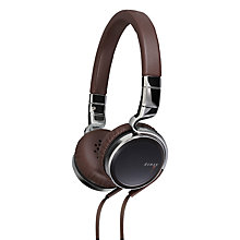 Buy JVC Ésnsy HA-SR75S On-Ear Headphones with FREE JVC Ésnsy HA-FX45S In-Ear Headphones, Brown Online at johnlewis.com