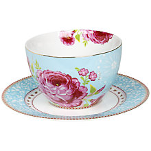 Buy PiP Studio Floral Whites Soup Cup & Saucer Online at johnlewis.com