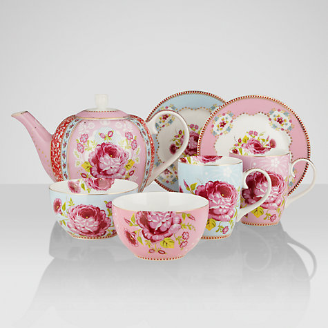 Buy PiP Studio Floral Breakfast Set, 7 piece Online at johnlewis.com