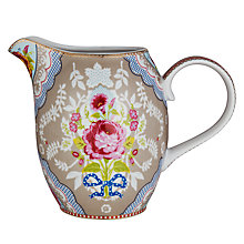 Buy PiP Studio Floral Jug, 1L, Khaki Online at johnlewis.com