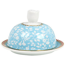 Buy PiP Studio Shabby Chic Butter Dish, H6 x W9 x D9cm, Blue Online at johnlewis.com