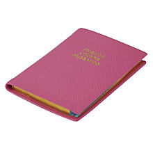 Buy Leathersmith of London Rutland Friends, Lovers and Husbands Address Book, Pink Online at johnlewis.com