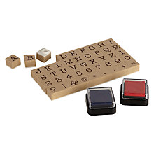 Buy Natural Products Typewriter Stamp & Ink Set Online at johnlewis.com