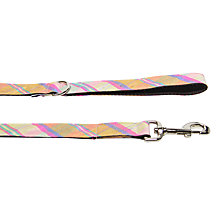 Buy Purplebone Check Dog Lead, Yellow / Pink Online at johnlewis.com