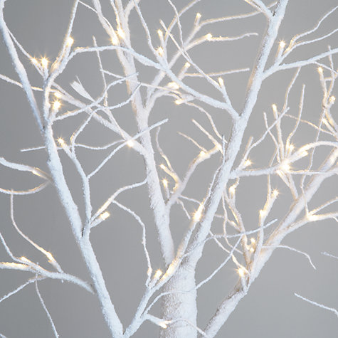 Buy John Lewis Oudoor Pre-lit Paper Tree, White, 6.5ft Online at johnlewis.com