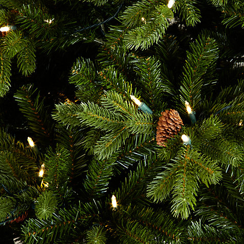 Buy John Lewis Pre-lit Forest Pine Christmas Tree, Green, 7.5ft Online at johnlewis.com