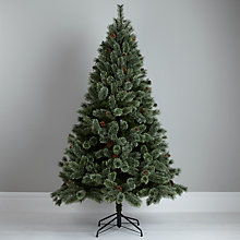 Buy John Lewis Soft Tip with Pinecones Christmas Tree, 7ft Online at johnlewis.com