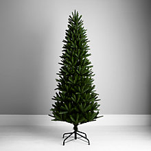 Buy John Lewis Aspen Slim Christmas Tree, Green, 7ft Online at johnlewis.com