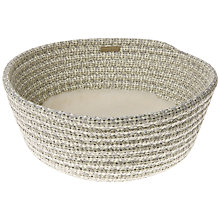 Buy Mungo & Maud Cat Basket, Cupcake Grey Online at johnlewis.com