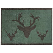 Buy Turtle Mat Historic Royal Palaces Collection Royal Stag Doormat, L85 x W60cm, Green Online at johnlewis.com
