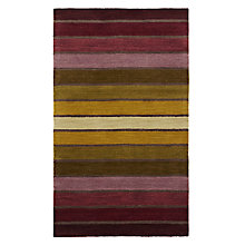Buy John Lewis Dhalia Stripe Rug, L300 x W200cm, Purple/ Green Online at johnlewis.com