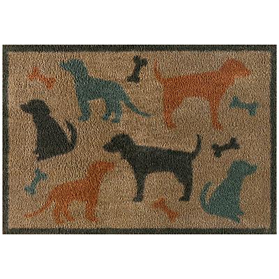 Turtle Mat Dog and Bone Doormat, L85 x W60cm , Multi