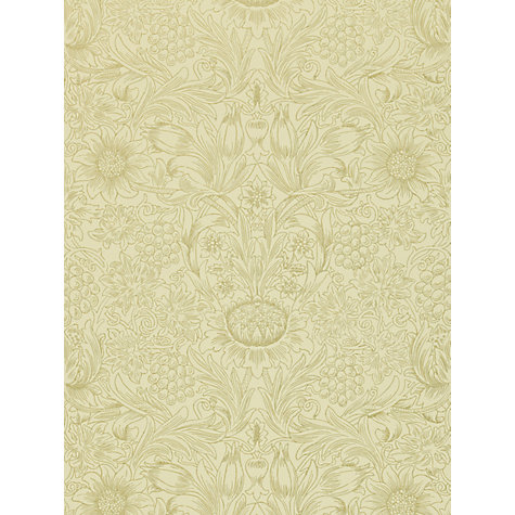 Buy Morris & Co Sunflower Etch Wallpaper Online at johnlewis.com