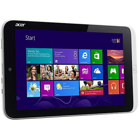 "Buy Acer Iconia W3-810 Tablet, Intel Atom, Windows 8 & Microsoft Office 2013, 8.1"", Wi-Fi, 64GB, Silver Online at johnlewis.com"