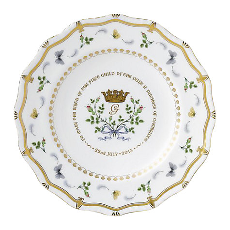 Buy Royal Crown Derby Royal Baby Gadroon Plate, Dia.22cm, Multi Online at johnlewis.com