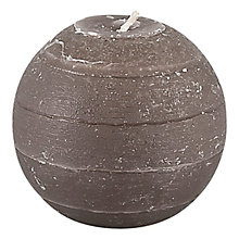 Buy Broste Rustic Ball Candle, Dia.8cm Online at johnlewis.com
