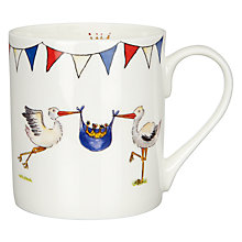 Buy Milly Green Royal Baby Collection Storks Mug Online at johnlewis.com