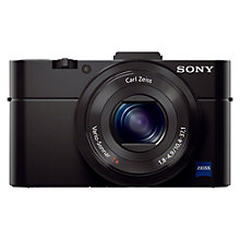 "Buy Sony Cyber-shot DSC-RX100 II Camera, HD 1080p, 20.2MP, 3.6x Optical Zoom, WiFi, NFC, 3"" LCD Flip Screen, Black Online at johnlewis.com"
