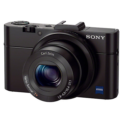 Buy Sony Cyber-shot DSC-RX100 II Camera, HD 1080p, 20.2MP, 3.6x Optical Zoom, NFC, 3 LCD Flip Screen, Black Online at johnlewis.com