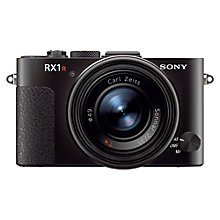 "Buy Sony Cyber-shot DSC-RX1R, HD 1080p, 24.3MP, 3"" LCD Screen, Black with 16GB + 8GB Memory Card Online at johnlewis.com"