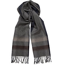 Buy Daks Lambswool Angora Stripe Scarf, Grey Online at johnlewis.com