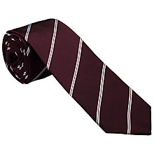Buy Kin by John Lewis Cope Stripe Silk Twill Tie Online at johnlewis.com