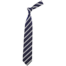 Buy Chester Barrie Savile Row Reppe Stripe Silk Tie Online at johnlewis.com
