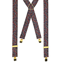 Buy John Lewis Paisley Braces, Navy/Burgundy, One Size Online at johnlewis.com