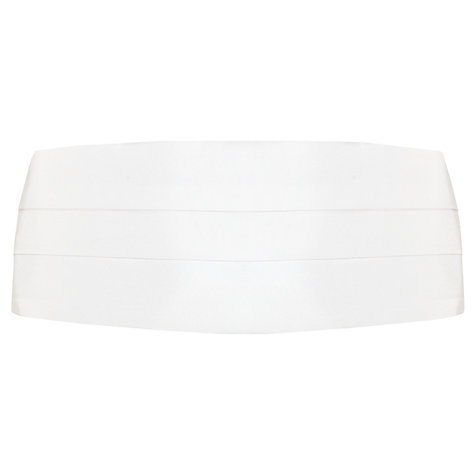Buy John Lewis Silk Cummerbund, White Online at johnlewis.com