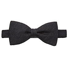 Buy John Lewis Herringbone Bow Tie, Grey Online at johnlewis.com